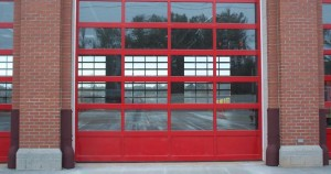 Aluminum and Glass Commercial Garage Doors
